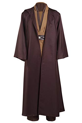 Kenobi Jedi Tunica Cosplay Costume Marrone Version Uomo L