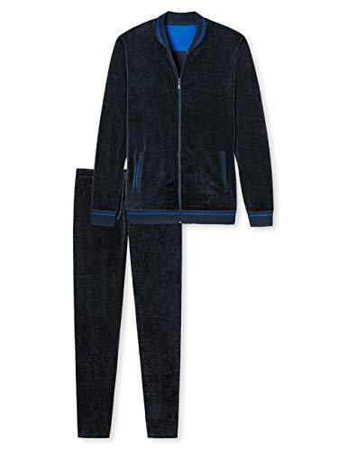 Schiesser Herren Zweiteiliger Schlafanzug Hausanzug, Blau (Dunkelblau 803), L/XL (Herstellergröße: L/XL)
