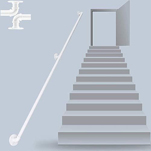 Weißer Handlauf for Treppen, Treppenhaus Banister Rail Support Kit, Assistive Grabbar |Fahren Sie direkt nach Treppenhaus Tür-Haus oder Kellereingang (Size : 400cm)