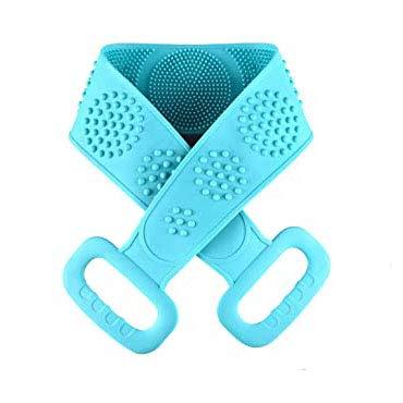 Silikon-Backwäscher Für Dusche Lange Silikon-Badekörperbürste Fördern Sie Den Blutkreislauf Tief Saubere Peeling-Silikon-Körperwäscher,Grün