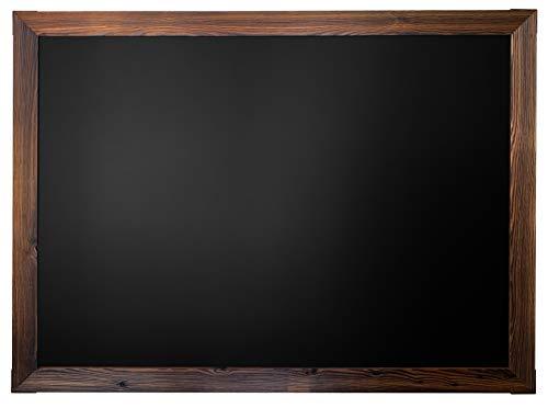 "Loddie Doddie Huge Magnetic Chalkboard - 46"" x 34.5"" Rustic Framed Chalkboard for Wall Decor - Easy to Erase Chalkboard Rustic Frame for Kitchen, Framed Magnet Blackboard - Hanging Black Chalkboards"