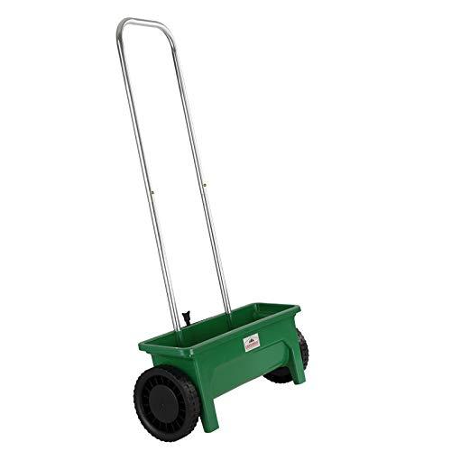 Gardebruk Carro esparcidor con Mango 12L distribución 50cm Soporte práctico para Fertilizante abono Semillas Sal jardín