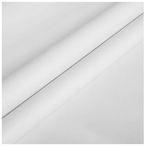 MAGFYLY Cuero para tapizar Tela de Cuero Sintético Cuero Sintético de Primera Calidad 138x100cm , Tela de PU Material de Artesanía de Cuero Sintético Impermeable Ignífugo (Color : Pure White)