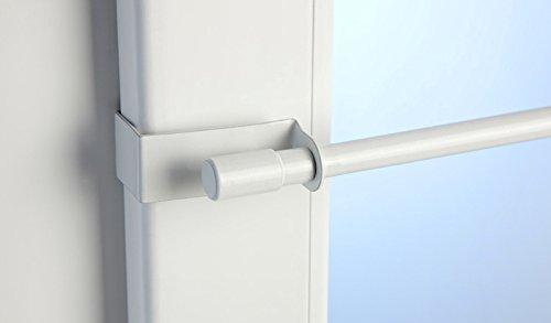 Jellinghaus Sonnenschutz Klemmstange Easy Fix weiß oder Edelstahl-Optik ausziehbar 45-75cm oder 75-125cm ohne Bohren Vitrage zum Klemmen - Klemmstange (weiß, 75-125 cm)