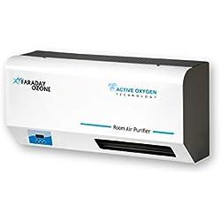 OZOCA R-250 - Purificatore d'aria da parete che permette la presenza di persone, per l'avvio di ozono ionizzatore di aria, deodorante, non è necessario sostituire il filtro