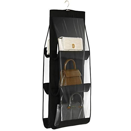 XYZMDJ Bolsa de almacenamiento para colgar con 6 bolsillos, organizador de almacenamiento para guardar tu armario o armario limpio y ordenado (color: A)