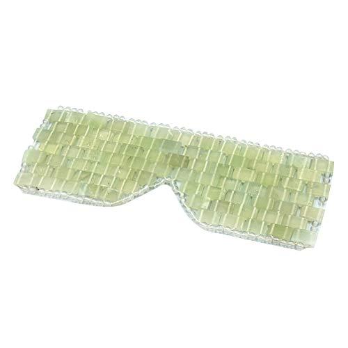 EXCEART Masque pour Les Yeux en Jade Masque de Sommeil Patch pour Les Yeux Spa Bandeau pour Les Yeux Bandeau de Voyage pour Yoga Train Chambre (Vert)