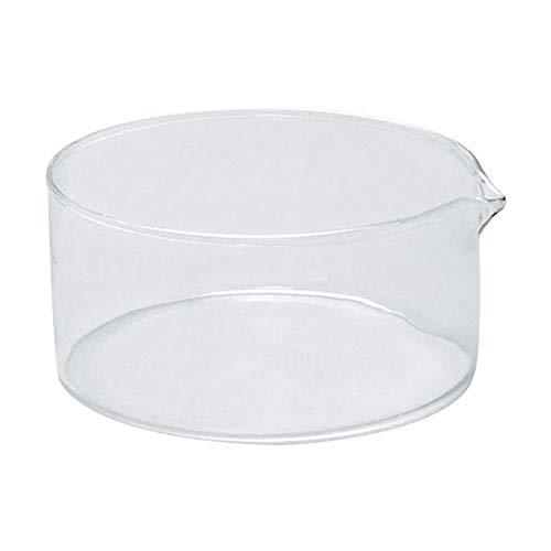 Tansoole 125mm Kristallisierschale aus Borosilikatglas mit Ausguss, Wiederverwendbare Abdampfschale