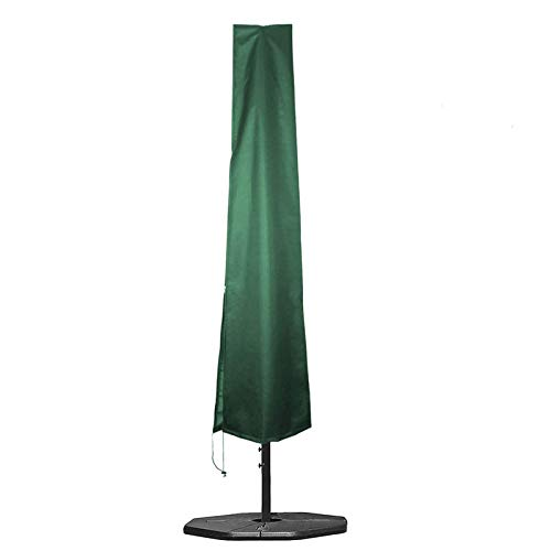 PJDH Parasol Cover Outdoor Umbrella Covers 190x25x50cm Waterproof 600D Oxford Fabric PVC Coating with Zip - Fit 6ft to 11ft Parasols Umbrellas, Green