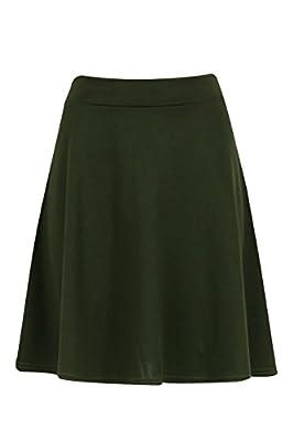 Ladies Girls Basic Ponte Skater Skirt US Size 6-12