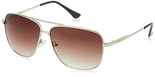Fastrack Men Square Sunglasses Silver Frame Brown Lens