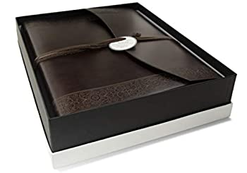 LEATHERKIND Maya Recycled Leather Photo Album Large Rustic - Handmade in Italy