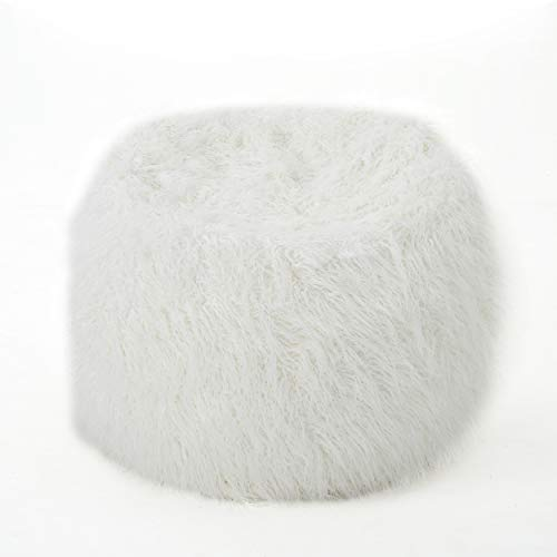 Lycus Faux Fur Bean Bag Chair (White)
