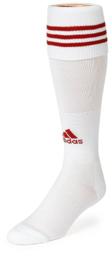 adidas Copa Calcetines de cojín de Zona, Mujer niña Niños Hombre, Color Blanco y Rojo, tamaño Small Fits Youth Shoe Size 13C-4Y