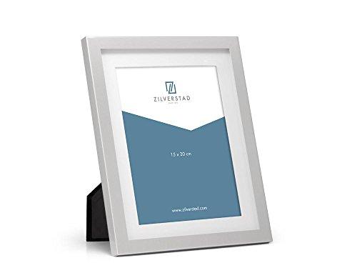 Zilverstad fotolijst Nevada 15x20 cm, ijzer, zilverkleurig, 15 x 20 cm