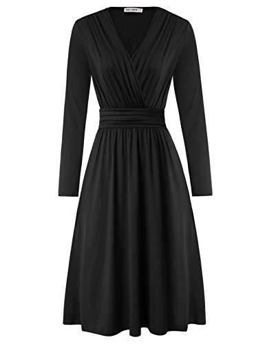 Petticoat Kleider a Linie cocktailkleid Damen Festliche Kleider schwarz Partykleider CL2602-1 S