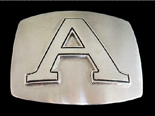 Initial A wholesale Letter Name Tag Belt Buckle Chrome Monogram Buckles Popular product
