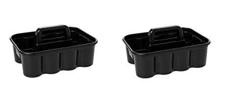 Rubbermaid Commercial Deluxe Carry Cleaning Caddy, Black (FG315488BLA) (PAXK OF 2)