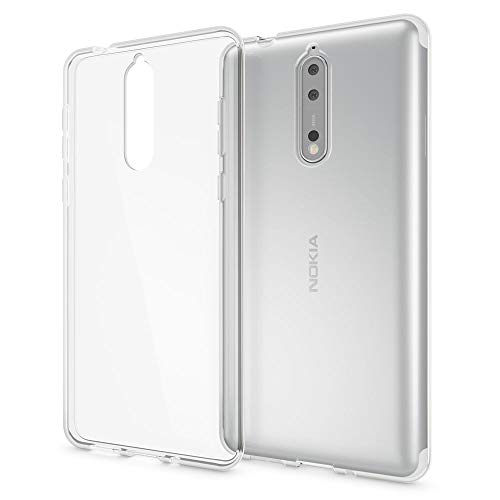 NALIA Handyhülle kompatibel mit Nokia 8, Ultra-Slim TPU Silikon Hülle Cover Crystal Clear Schutzhülle Dünn Durchsichtig, Etui Hülle Handy-Tasche Backcover Transparent, Smartphone Schutz Bumper