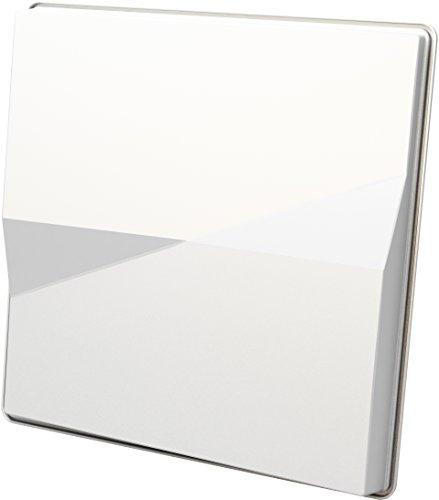 Selfsat H50M SELFSAT H50M single Flachantenne für den gleichzeitigen Empfang von Astra 19.2°E und Hotbird 13°E (für einen Teilnehmer) , Weiß