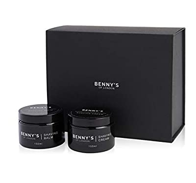 Shaving Cream and Balm Set - Benny's of London - Special Offer - Both Products in Our Luxury Packaging Set, Ideal for a Present or Gift