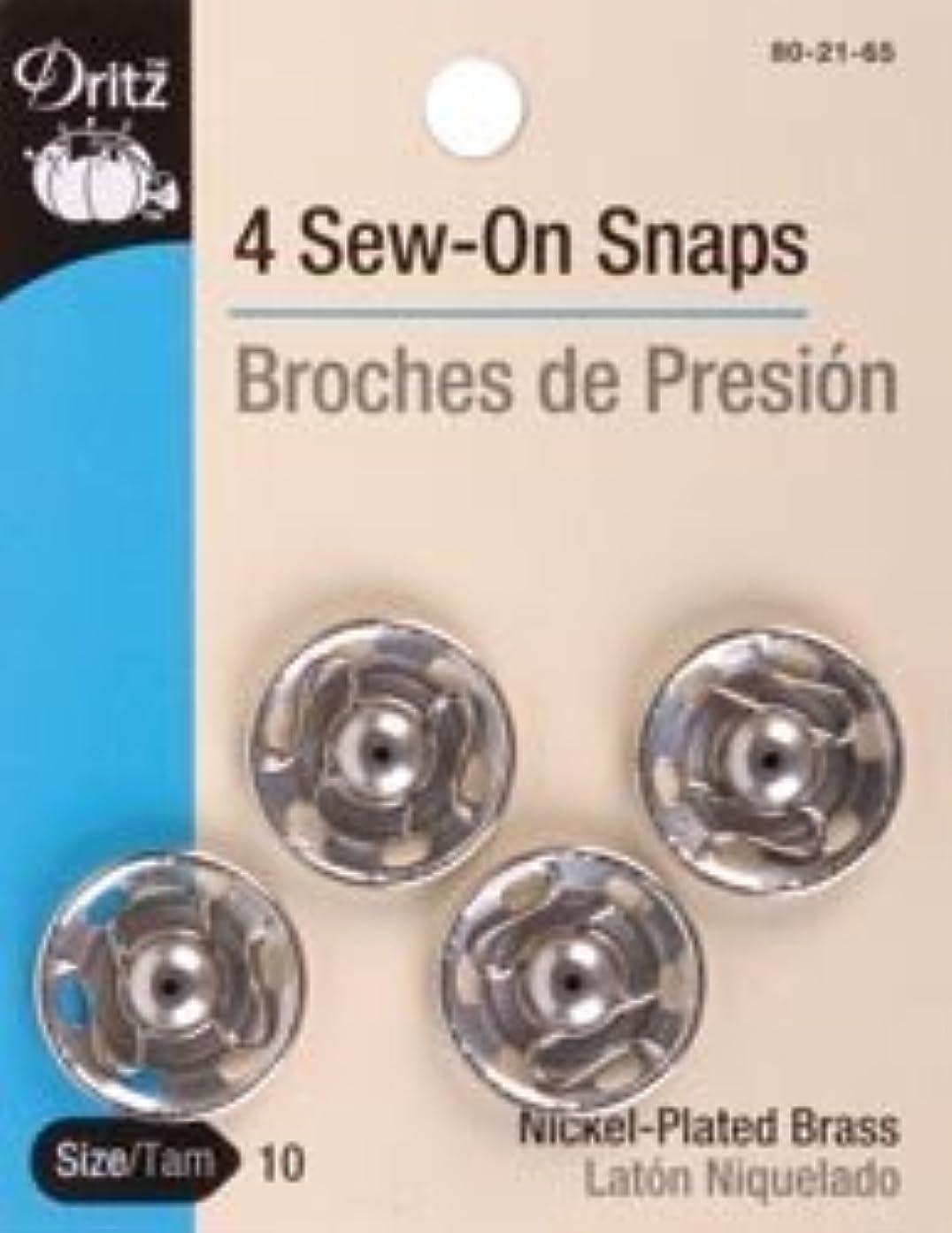 Bulk Buy: Dritz Nickel Sew On Snaps Size 10 4/Pkg 80-21-65 (3-Pack)
