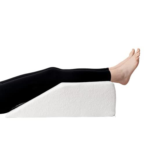Almohada para Piernas Dreamzie - Cojin para piernas Terapéutico Memoria de Forma - Dolor de Espalda, Rodillas, Post-operatorio, Piernas Pesadas, Circulación - Transpirable Lavable Hipoalergénico