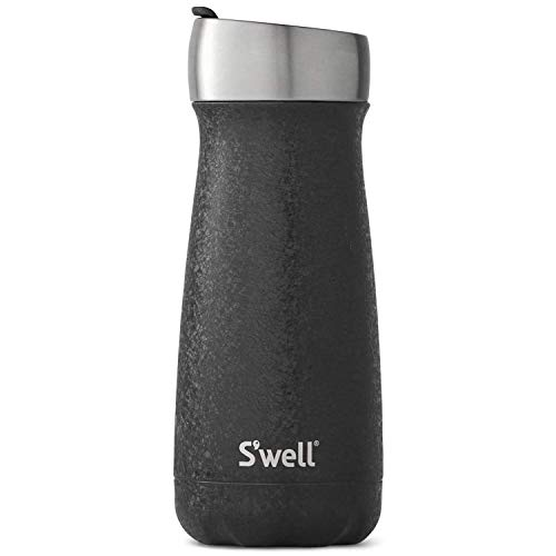 S'well Stainless Steel Commuter Bottle - 16 Fl Oz - Magnetite - Triple-Layered Vacuum-Insulated Containers Keeps Drinks Cold for 24 Hours and Hot for 6 - BPA-Free Travel Water Bottle