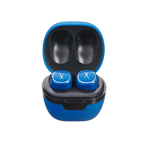 Altec Lansing NanoPods Truly Wireless Earbuds with Charging Case, TWS Waterproof Bluetooth Earphones with Touch Controls for Travel, Sports, Running, Working (Royal Blue)