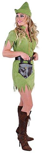narrenkiste M212141-S Damen Robin Hood Jäger Kostüm grün Gr.S