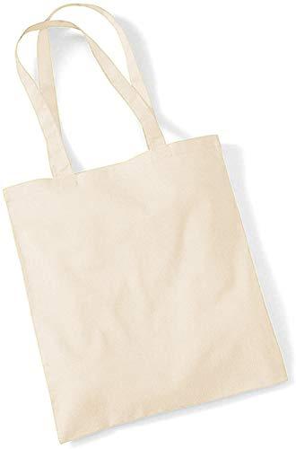 Westford Mill Cotton Shoulder tote bag in Natural