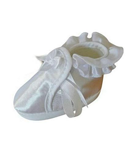 Seruna Festliche-r Baby-Schuh TP09A Gr. 19 Tauf-Schuhe weiß für Babies Junge-n und Mädchen zu Hochzeit-en
