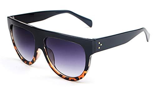 Epinki Unisex Polarisierte Sonnenbrille Sonnenbrille UV400 Schutz Retro Brille   Vollrand   für Autofahren, Wandern, Festival - Schwarz Leopard Grau
