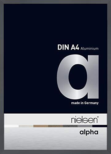 Nielsen Aluminium Bilderrahmen Alpha, 21x29,7 cm (A4), Dunkelgrau Glanz