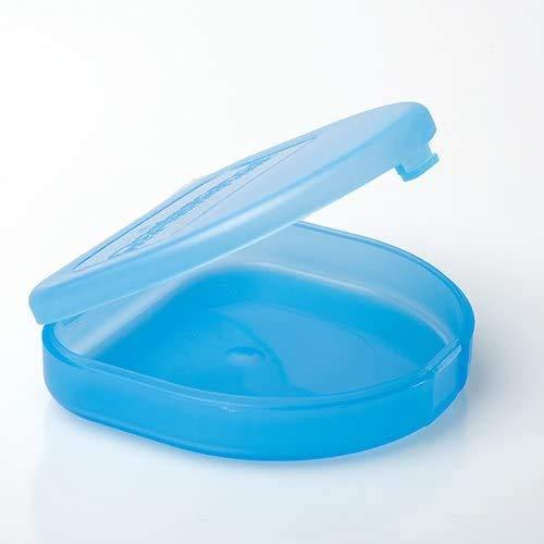 Ultraflache Box für Aufbissschiene oder Knirscherschiene (blau)