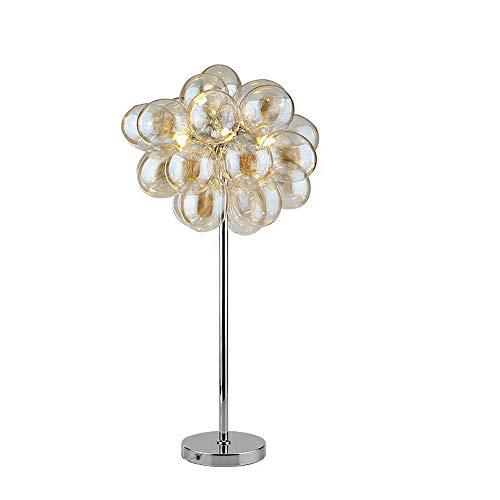 SXNYLY Nordic burbuja de cristal de noche iluminación de la decoración del globo del LED lámpara de la cama de la lámpara del color de Champán for el dormitorio, cuarto de niños, el estudio lámpara de
