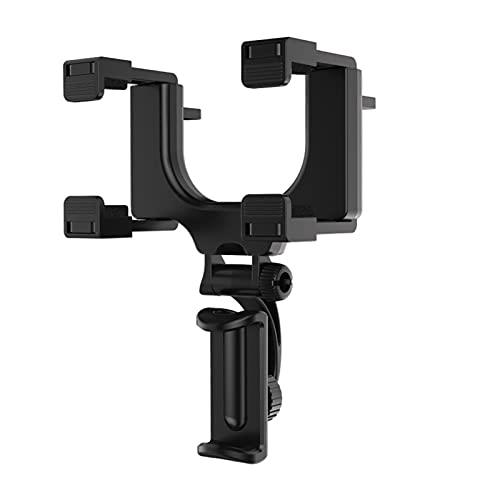 XIN CX Tenedor del teléfono del automóvil Retrovisor de Coche Soporte de teléfono de Montaje 360 Grados Fit para iPhone 8 Samsung GPS Smartphone Soporte Universal (Color : Black)