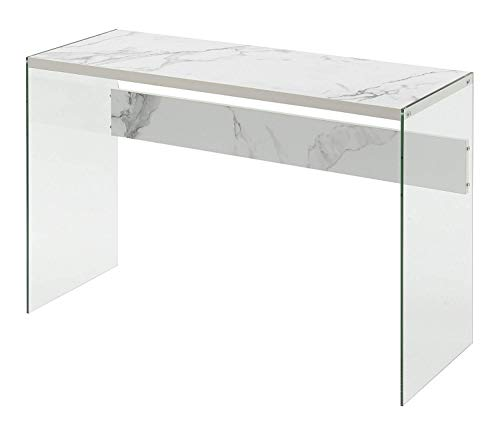 Convenience Concepts Soho Console Table, Faux White Marble