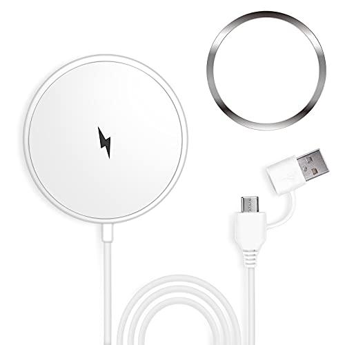 Limxems Cargador Inalámbrico magnético,Cargador inalambrico para iPhone Compatible con iPhone 12/12 Pro /12 Pro MAX /11/11 Pro /11 Pro MAX(con Pegatina magnética)