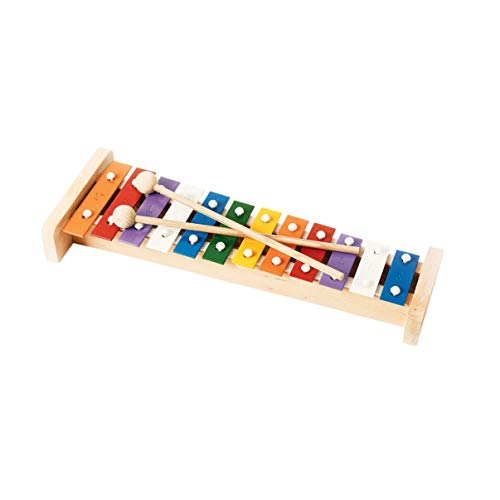 Professional Colorful Wooden Soprano Glockenspiel Xylophone with 12 Metal Keys for Adults amp Kids  Includes 2 Wooden Beaters