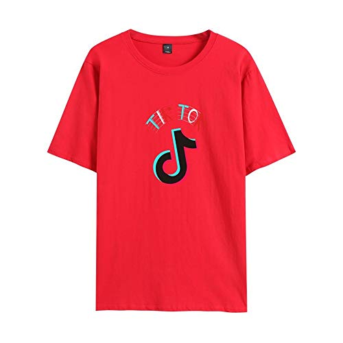 TikTok Unisex Kids Trui met korte mouwen T-shirt Fashion Casual Hoodie Sweatshirt for Music Fans