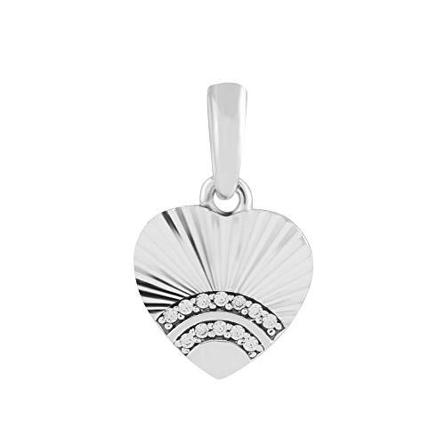 LIIHVYI Pandora Charms para Mujeres Cuentas Plata De Ley 925 Joyas Fan of Love Colgante Clear Brand Jewelry Compatible con Pulseras Europeos Collars