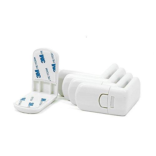 Offgridtec 007520 Kindersicherung für Schublade Schrank Schrankschloss, 5 Stück, weiß