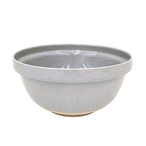 "Casafina Fattoria Collection Stoneware Ceramic Large Mixing Bowl 12.25""/211 oz, Grey"