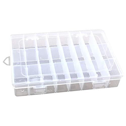 collectsound Caja de plástico con 24 Compartimentos, Organizador de Joyas, Celer, Talla...