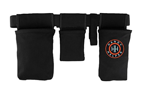 Handy Helper Tool Belt, Organizer, Carrier for Home, Garden, RV - Black Piping