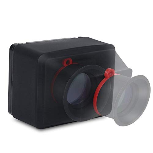 Hopcd Visor de Video LCD con Lupa 3X para DSLR Cámaras sin Espejo Visor LCD de Pantalla Multiusos de 3.2 Pulgadas