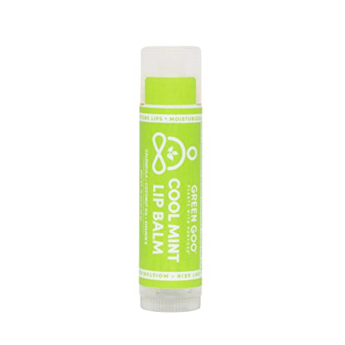 Green Goo All-Natural Lip Balm, Cool Mint, 0.15-ounce Stick, 4-pack