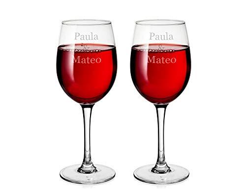 Copas De Vino Tinto Personalizadas Marca Regalo Original