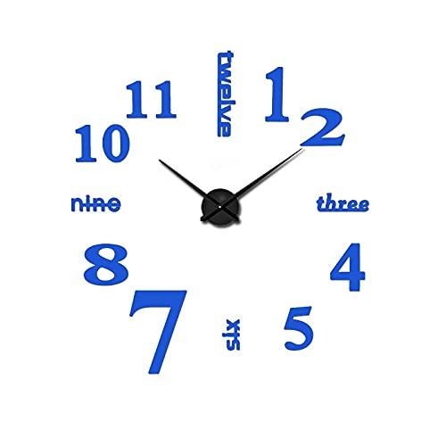 CVG Accesorios de Dormitorio DIY 3D Reloj de Pared Living Home Decorate Acrílico Metal Espejo Reloj de Pared Super Sticker Reloj Digital Relojes FreeShipping
